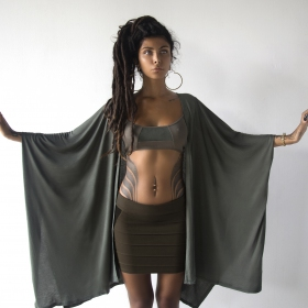 "\""Kinetic\"" skirt, Dark grey"