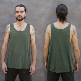 """Kinetic Shipibo\"" tank top, Teal"