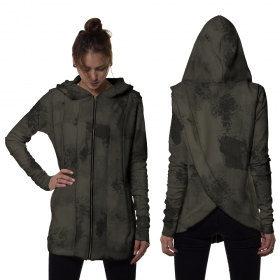 "\""Kiran\"" Cardigan, Khaki camouflage"
