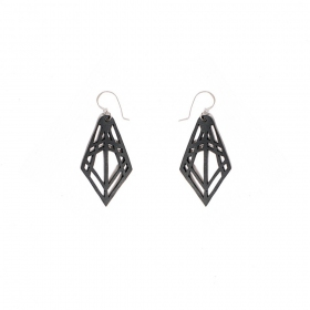 """Kite\"" inner tube earrings"