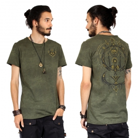 """Kitty\"" t-shirt, Khaki wash"