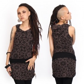 """Kokeshi Cosmic\"" tunic dress, Brown"