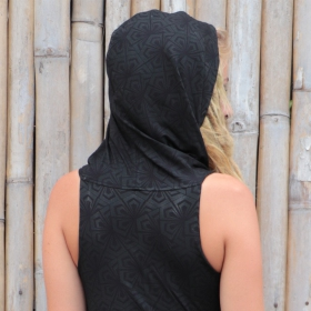 "\""Kokeshi Samouraï\"" tunic dress, Black"