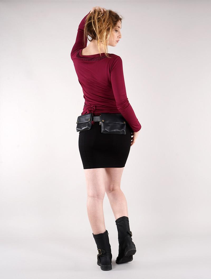 "\""Krios\"" middle skirt, Black"