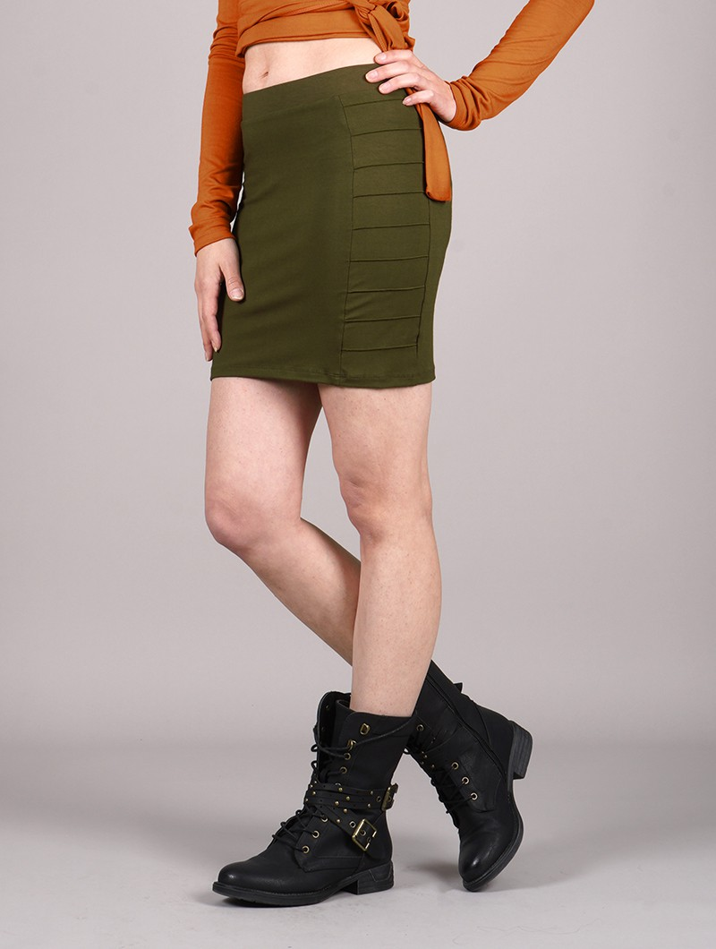 """Krios\"" short skirt, Khaki green"