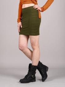 "\""Krios\"" short skirt, Khaki green"