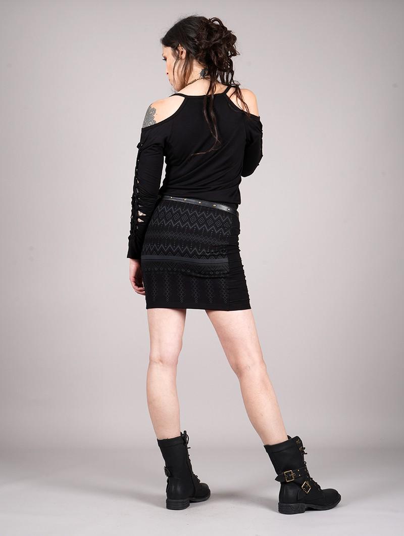 "\""Krios Aztec\"" short skirt, Black"