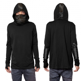 "\""Kusary\"" long sleeved shirt, Black"