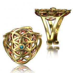 "\\\""Kvanh Flower of Life\\\"" ring"