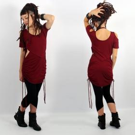 "\""Laality\"" tunic-dress, Wine"