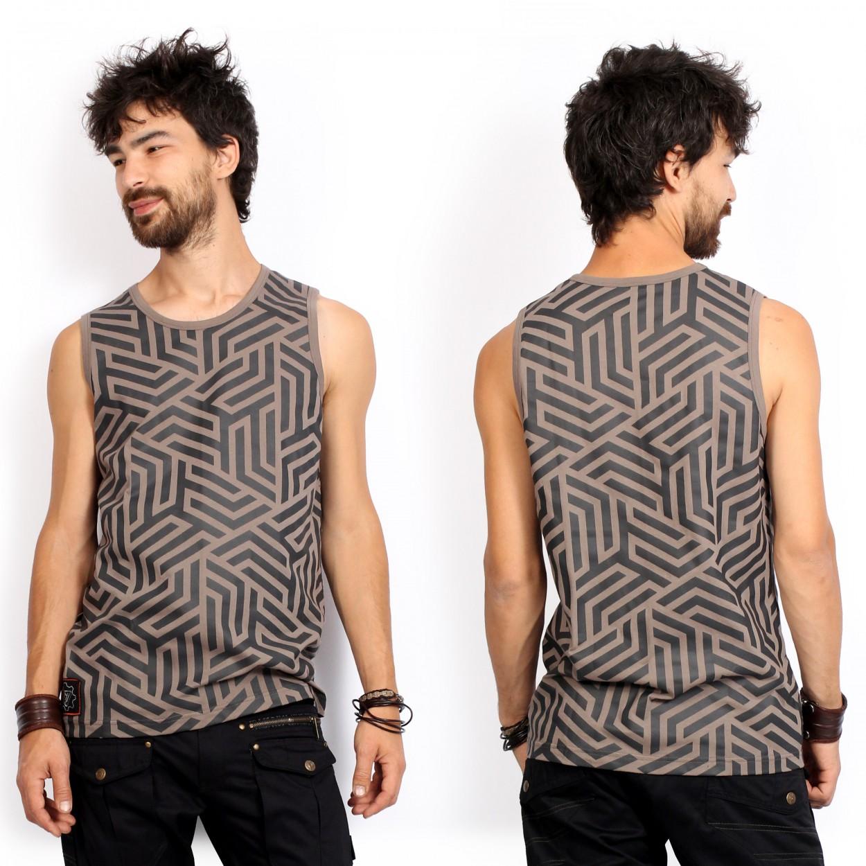 "\""Labyrinth\"" tank top, Grey"