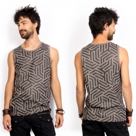 """Labyrinth\"" tank top, Grey"