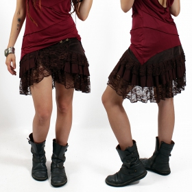 """Lace Wrap\"" skirt, Brown"