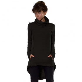 """Lakota\"" long sweater, Black"
