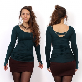 """Layläa\"" long sleeves top, Dark teal"