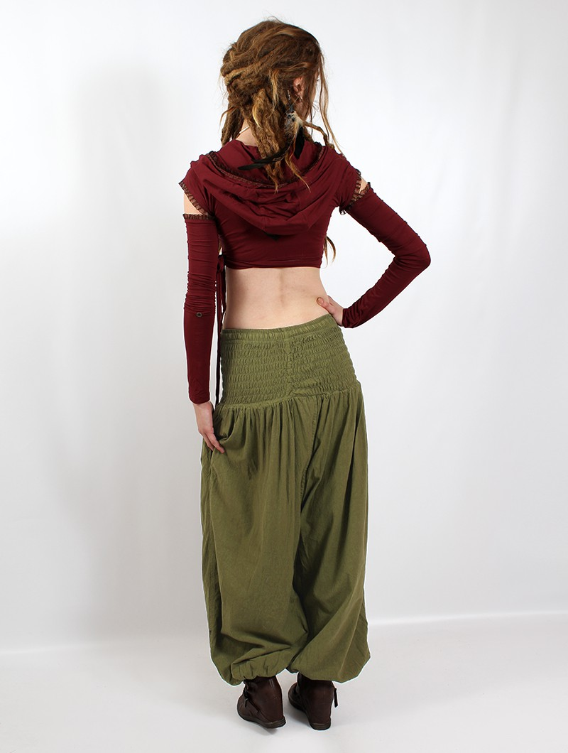 """Layto\"" Gender neutral harem pants, Olive"
