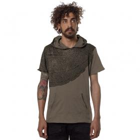 "\""Leaf\"" t-shirt, Beige"