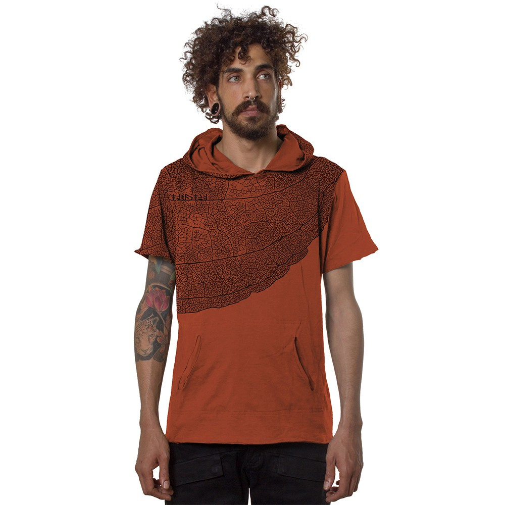 """Leaf\"" t-shirt, Orangish"