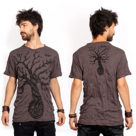 """Leafless Tree\"" t-shirt, Brown"