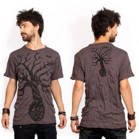 "\""Leafless Tree\"" t-shirt, Brown"