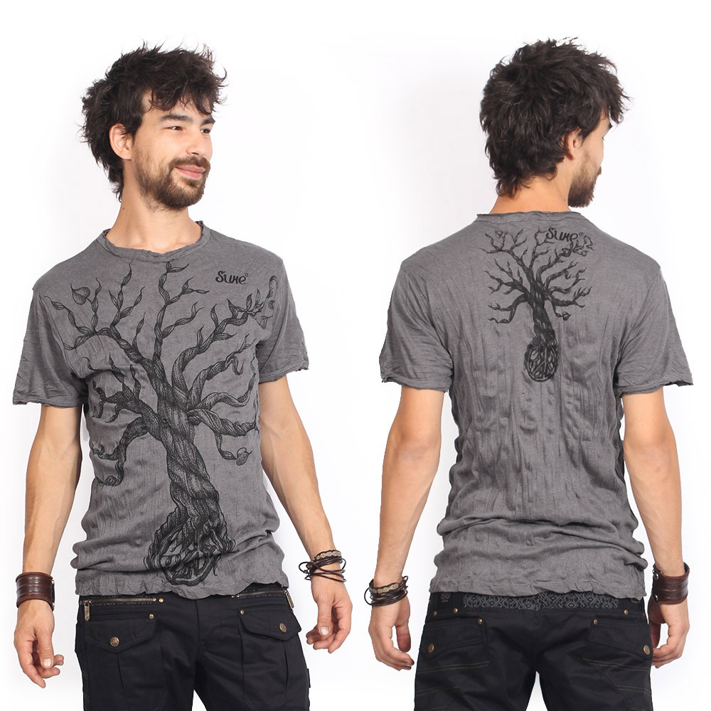 "\""Leafless Tree\"" t-shirt, Dark grey"
