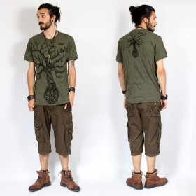 """Leafless Tree\"" t-shirt, Khaki green"