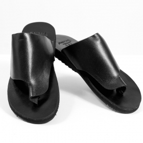 "Leather flip-flops \""mehak\\\"", black"