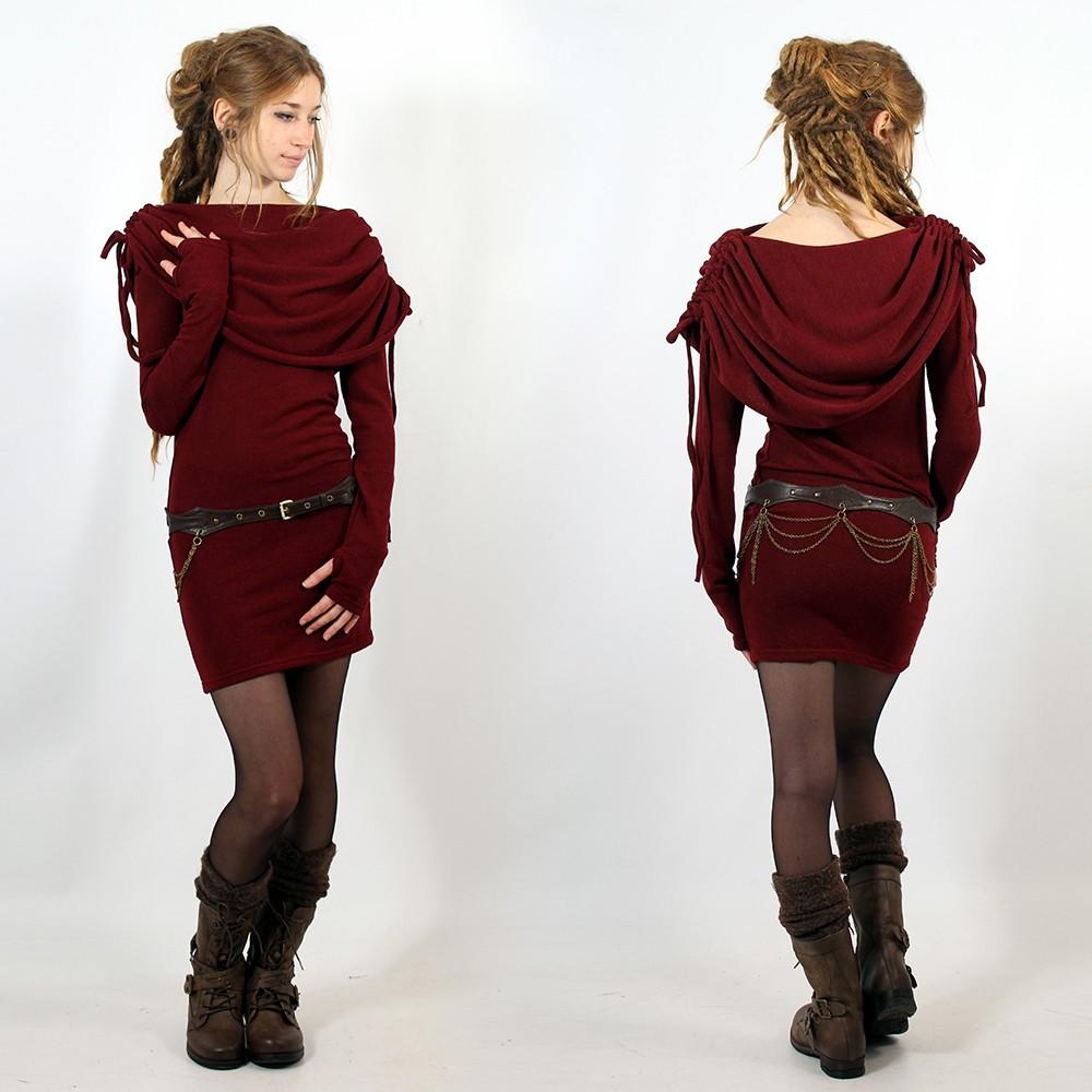 "\""Leina\"" dress, Wine"
