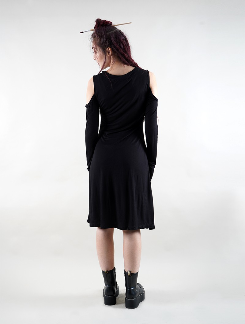 """Leto\"" long sleeve dress, Black"