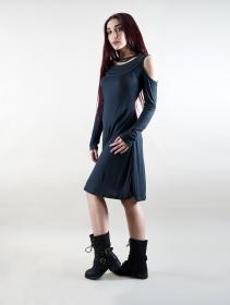 "\""Leto\"" long sleeve dress, Teal blue"