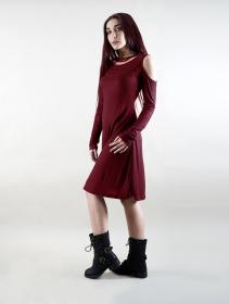 "\""Leto\"" long sleeve dress, Wine"