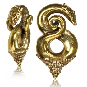 "\""Lilavati\\\"" brass ear jewel/weight"