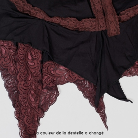 """Liloo \""""Nehelenia\"""", Black with brown lace"""