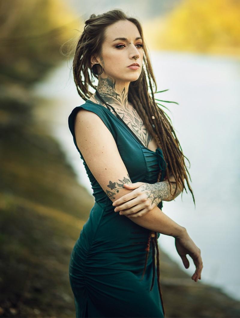 "Liloo Dress \""Long Jadeite\"", Teal blue brown"