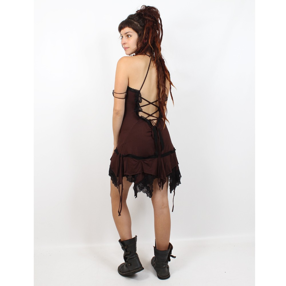 "Liloo Dress \""Nehelenia\"", Chocolate black lace"
