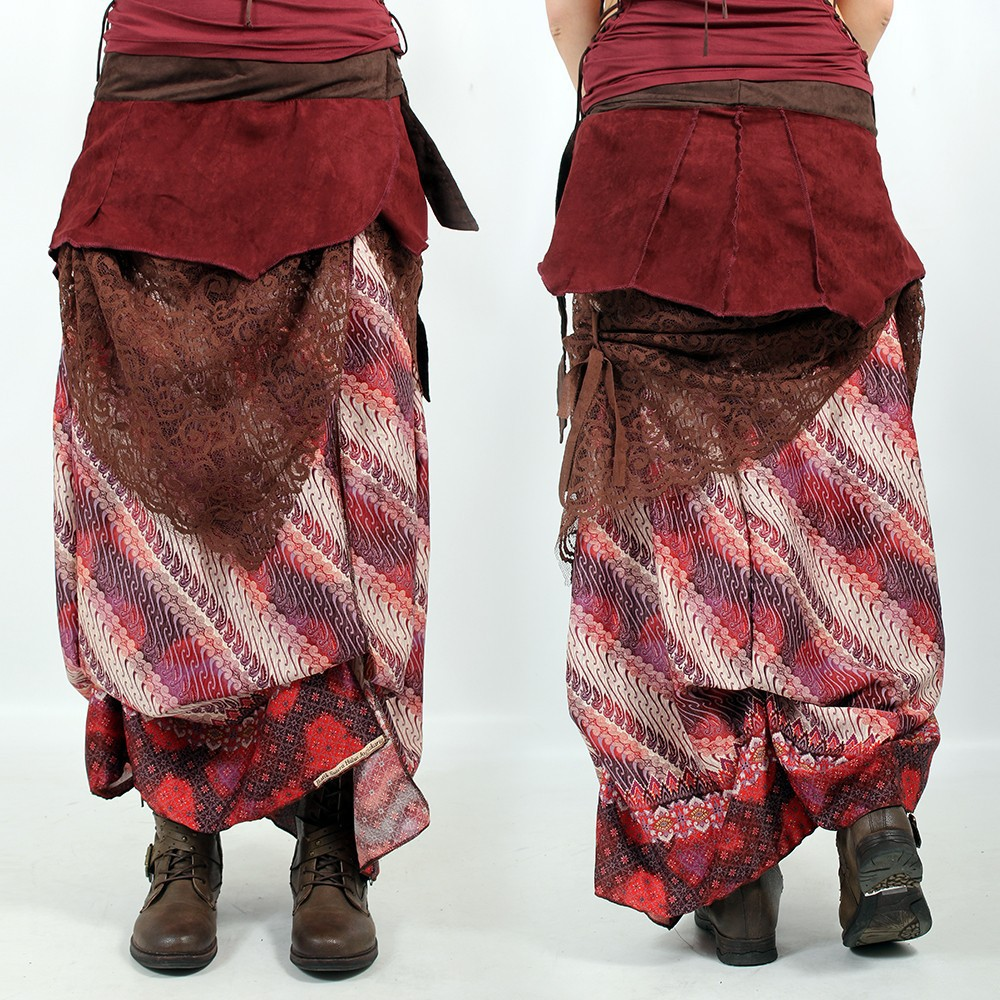 "Liloo Skirt ""Utopia\"", Brown deepred"