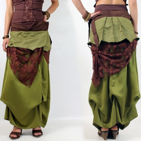 "Liloo Skirt ""Utopia\"", Fern plain brown lace"