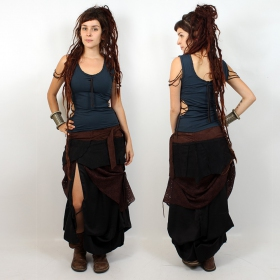 "Liloo Skirt \""Utopia\"", Plain black brown lace"