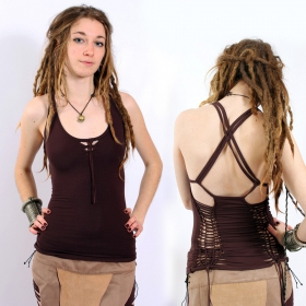 "Liloo Top ""Back Cut\"", Brown"