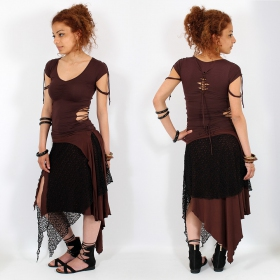 "Liloo Top \""Tsukino\\\"", Chocolate brown"