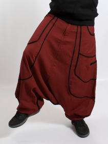 ""\""""Lines"""" Gender neutral harem pants, Rusty with black lines""211|280|?|en|2|fdbc9a49642104e755a2ac47610870d5|False|UNLIKELY|0.30341672897338867