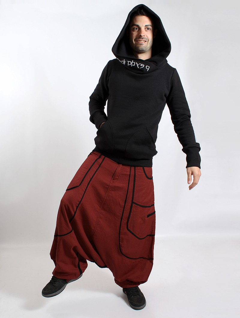 ""\""""Lines"""" Gender neutral harem pants, Rusty with black lines""800|1060|?|en|2|5927232c229f01f6c2f773058c2439f6|False|UNLIKELY|0.28592145442962646