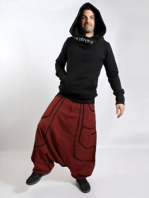 ""\""""Lines"""" Gender neutral harem pants, Rusty with black lines""211|280|?|en|2|77eb70bcff0be60ce5a29f11a07de6dd|False|UNLIKELY|0.29134154319763184