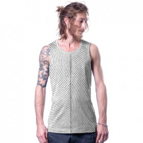 """Lines\"" tank top, Dirty"
