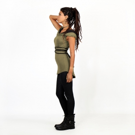 """Liskä\"" Hooded tank top, Khaki"