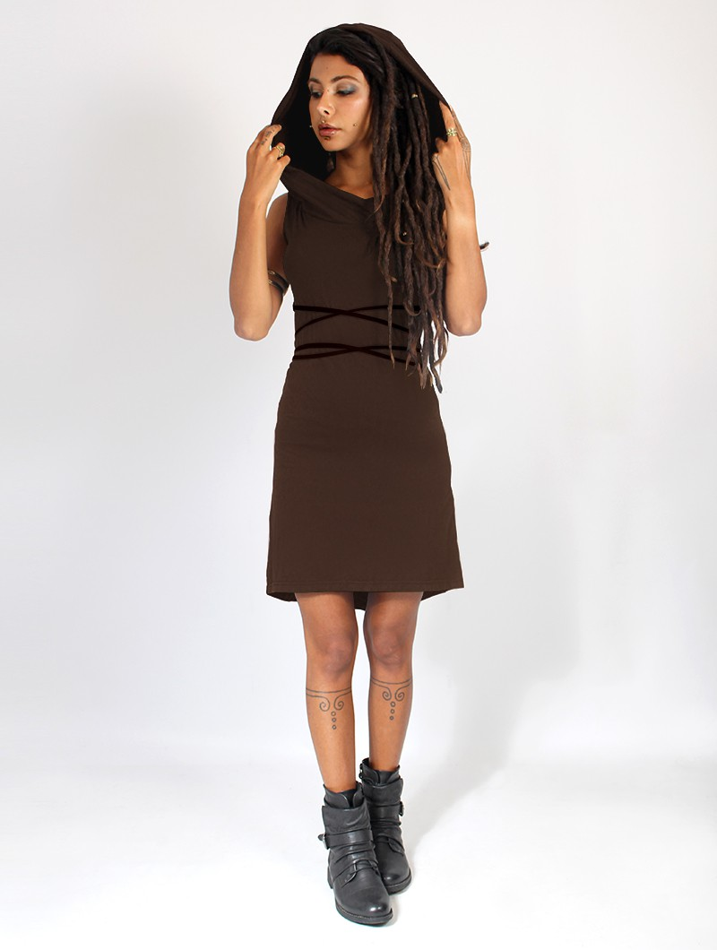 "\""Liskä\"" short dress, Brown"