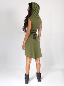 "\""Liskä\"" short dress, Khaki green"
