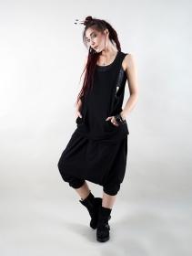 "\""Litonya\"" sleeveless tunic, Black"