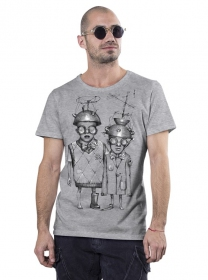 """Little bro\"" t-shirt, Mottled grey"