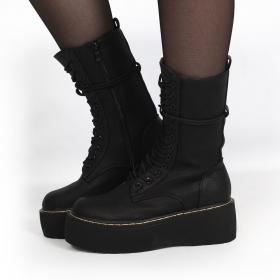 "\""Livaro\"" Boots, Black"